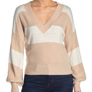 Mustard Seet Two Tone Striped Sweater